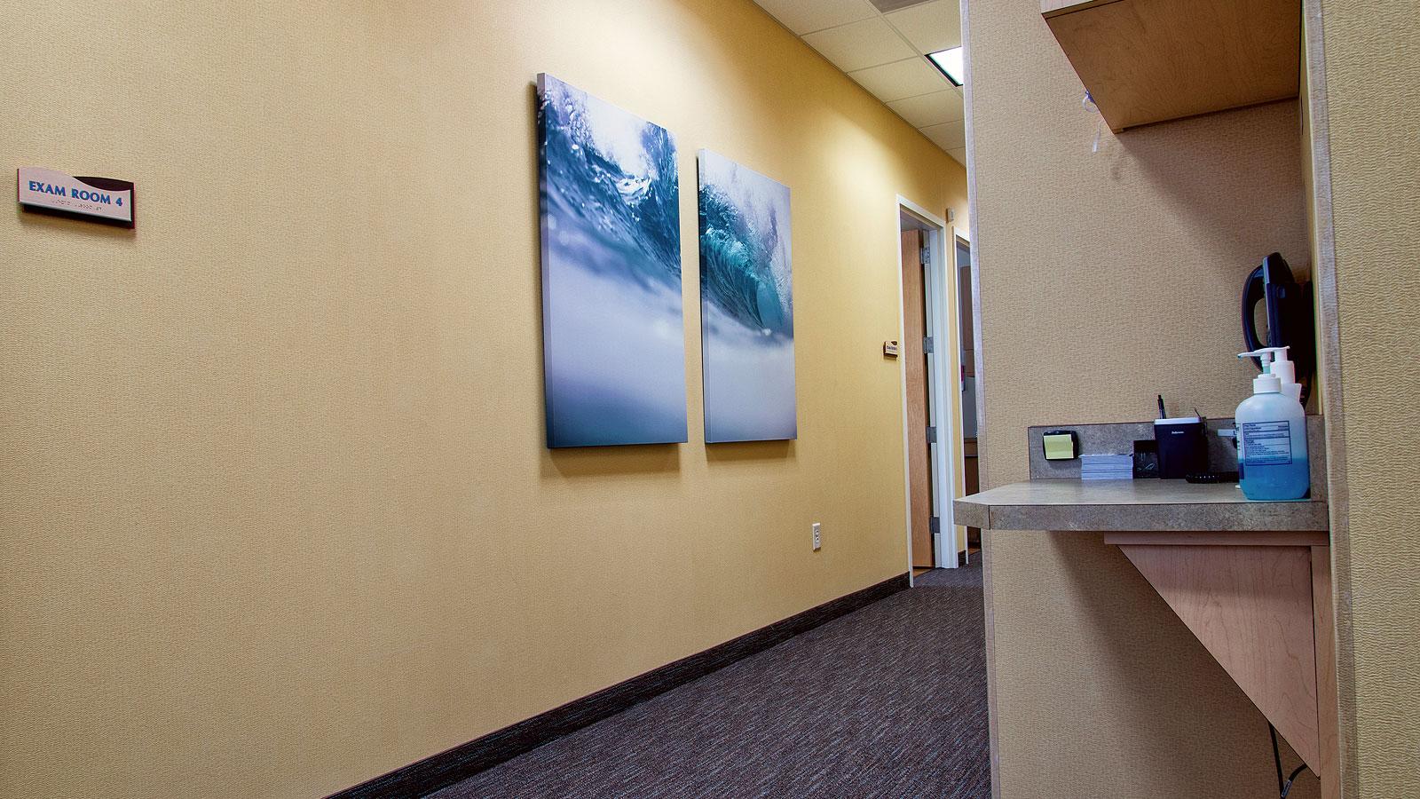 SeaCoast Skin Surgery Hallway